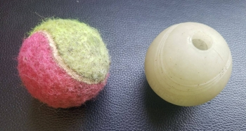 Standard Tennis Ball vs Chuck it Whistler Comparison