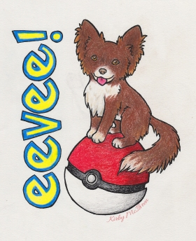 Regular style with name and Pokeball