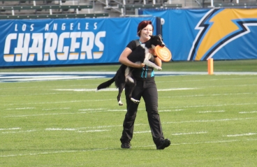 Sora performing halftime at an LA Chargers game!